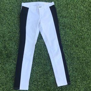 EUC Rag & Bone white tuxedo stripe jeans